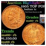 *Highlight* 1905 TOP POP! Indian 1c Graded ms66+ r