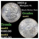1903-p Morgan $1 Grades Select Unc