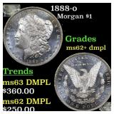 1888-o Morgan $1 Grades Select Unc+ DMPL