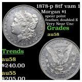 1878-p 8tf vam 1 Morgan $1 Grades Choice AU/BU Sli