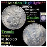 *Highlight* 1890-s Morgan $1 Graded Choice+ Unc
