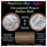 ***Auction Highlight*** Full Peace silver dollar r
