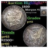 *Highlight* 1899 Morgan $1 Graded pr61