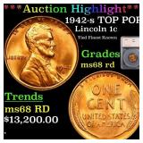 *Highlight* 1942-s TOP POP! Lincoln 1c Graded ms68