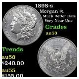 1898-s Morgan $1 Grades Choice AU/BU Slider