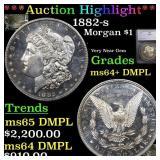 *Highlight* 1882-s Morgan $1 Graded ms64+ DMPL