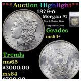 *Highlight* 1879-o Morgan $1 Graded ms64+