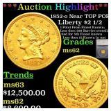 *Highlight* 1852-o Near TOP POP! Liberty $2 1/2 Gr