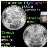 *Highlight* 1883-o Morgan $1 Graded ms66+