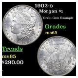 1902-o Morgan $1 Grades GEM Unc