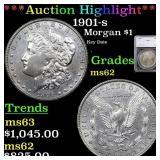 *Highlight* 1901-s Morgan $1 Graded ms62