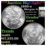 *Highlight* 1880-o Morgan $1 Graded ms64+