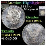 *Highlight* 1882-o Morgan $1 Graded ms64 DMPL