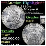 *Highlight* 1896-s Morgan $1 Graded ms66+