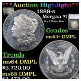 *Highlight* 1889-s Morgan $1 Graded ms63+ DMPL