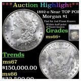 *Highlight* 1892-o Near TOP POP! Morgan $1 Graded