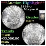 *Highlight* 1898-o Morgan $1 Graded ms67+