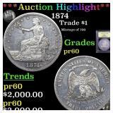 *Highlight* 1874 Trade $1 Graded Proof