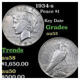 1934-s Peace $1 Grades Select AU