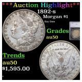 *Highlight* 1892-s Morgan $1 Graded au50