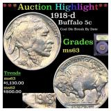 *Highlight* 1918-d Buffalo 5c Graded Select Unc
