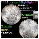*Highlight* 1878-cc Morgan $1 Graded ms64