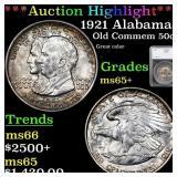 *Highlight* 1921 Alabama Old Commem 50c Graded ms6