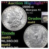 *Highlight* 1896-o Morgan $1 Graded ms62