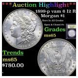 *Highlight* 1899-p vam 6 I2 R5 Morgan $1 Graded GE
