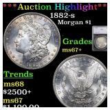*Highlight* 1882-s Morgan $1 Graded ms67+