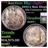 *Highlight* 1935-s San Diego Old Commem 50c Graded