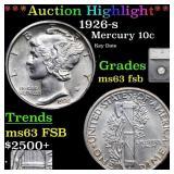 *Highlight* 1926-s Mercury 10c Graded ms63 fsb