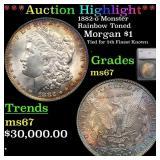 *Highlight* 1882-o Monster Rainbow Toned Morgan $1