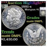 *Highlight* 1881-s Morgan $1 Graded ms66 DMPL