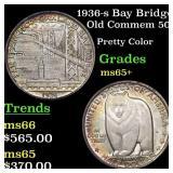 1936-s Bay Bridge Old Commem 50c Grades GEM+ Unc