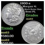 1900-s Morgan $1 Grades Select Unc