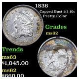 1836 Capped Bust 1/2 10c Grades Select Unc