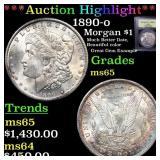 *Highlight* 1890-o Morgan $1 Grades GEM Unc