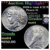 *Highlight* 1928-s vam 6 I2 R5 Peace $1 Graded Cho