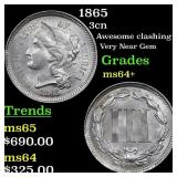 1865 3cn Grades Choice+ Unc
