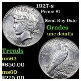 1927-s Peace $1 Grades Unc Details