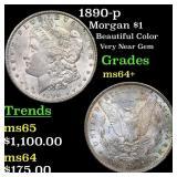 1890-p Morgan $1 Grades Choice+ Unc