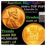 *Highlight* 1949-s TOP POP! Lincoln 1c Graded ms68