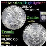 *Highlight* 1881-o Morgan $1 Grades GEM+ Unc