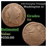 1783 Georgius Triumpho Washington 1c Grades f, fin