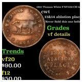1863 Thomas White F-NY-630-CH-2a cwt Grades vf det