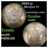 1885-p Morgan $1 Grades GEM+ Unc
