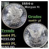 1884-o Morgan $1 Grades Select Unc+ PL