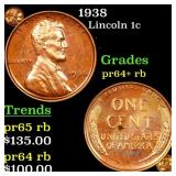 1938 Lincoln 1c Grades Select+ Proof RB