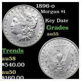 1896-o Morgan $1 Grades Choice AU